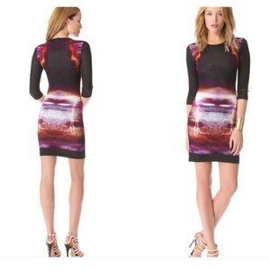 McQ by A. McQueen Lighting Print Bodycon Dress